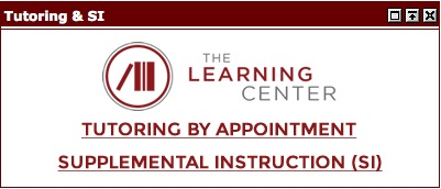 The Learning Center Tutoring and Supplemental Instruction Appointment Link